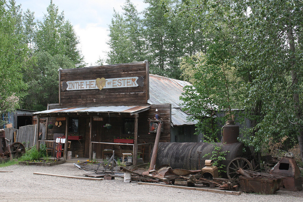 The old blacksmith building in Ester, AK