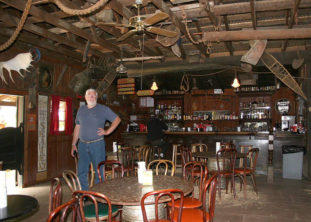 Mike inside the Malemute Saloon in Ester, AK
