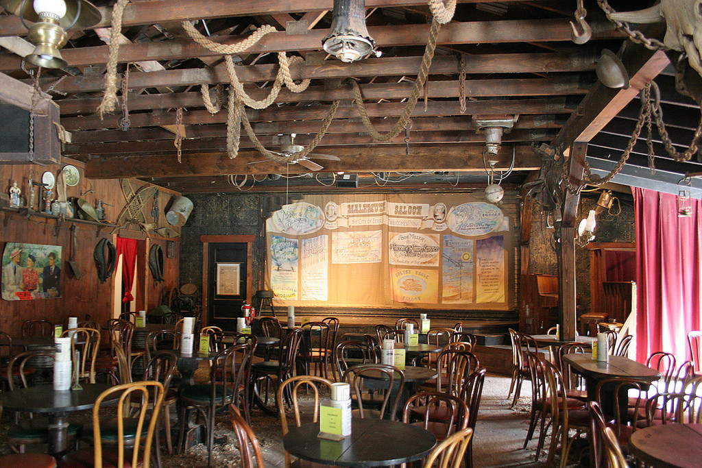 Inside the Malemute Saloon in Ester, AK