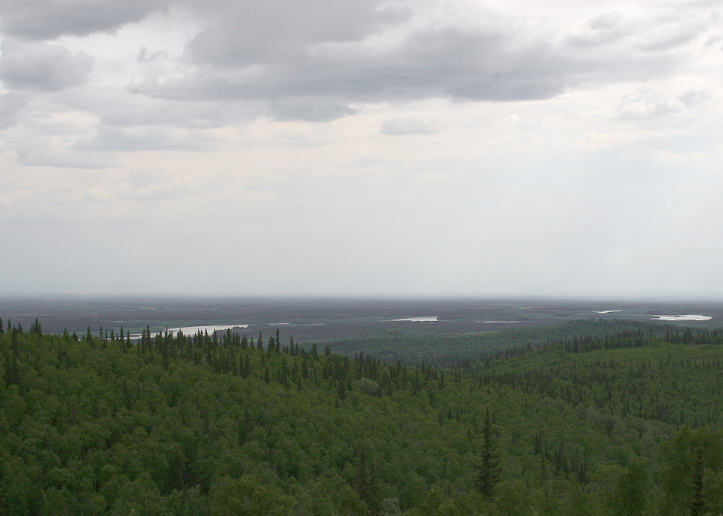 The Tanana River in the distance