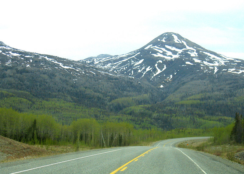 About 100 miles north of Haines, AK.