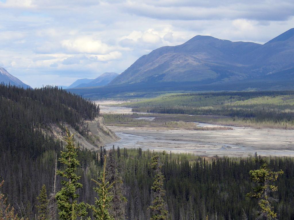 Kluane River from the Kluane River Overlook