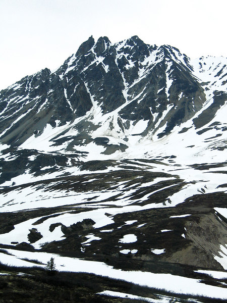 The Three Guardsmen Mountain about 50 miles north of Hanes, AK