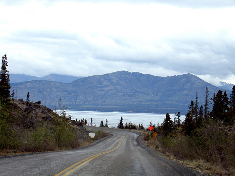 Coming down to the east side of Kluane Lake
