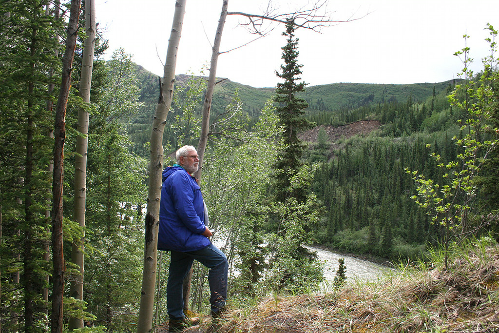 Mike above Nenana River at Denali Grizzly Bear Resort