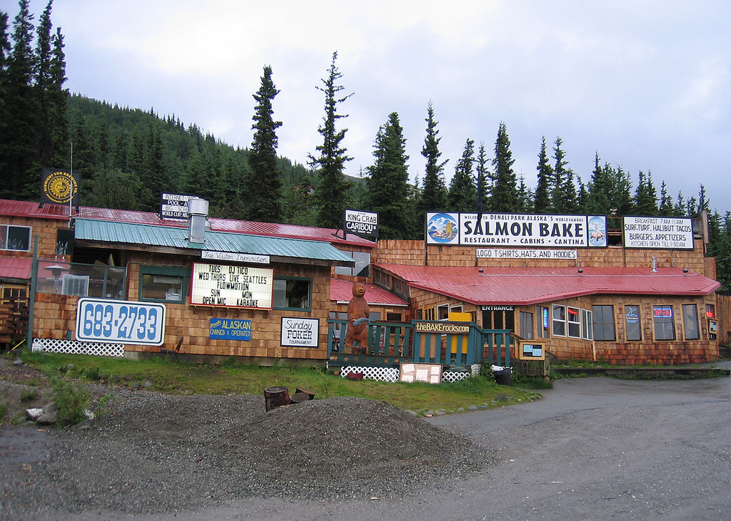 Salmon Bake Restaurant in the Denali Park Commercial Area