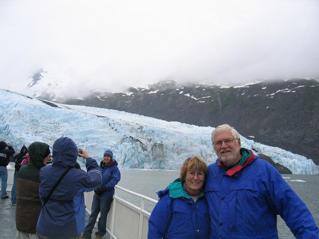 Mike and Susan at Portage Glacier