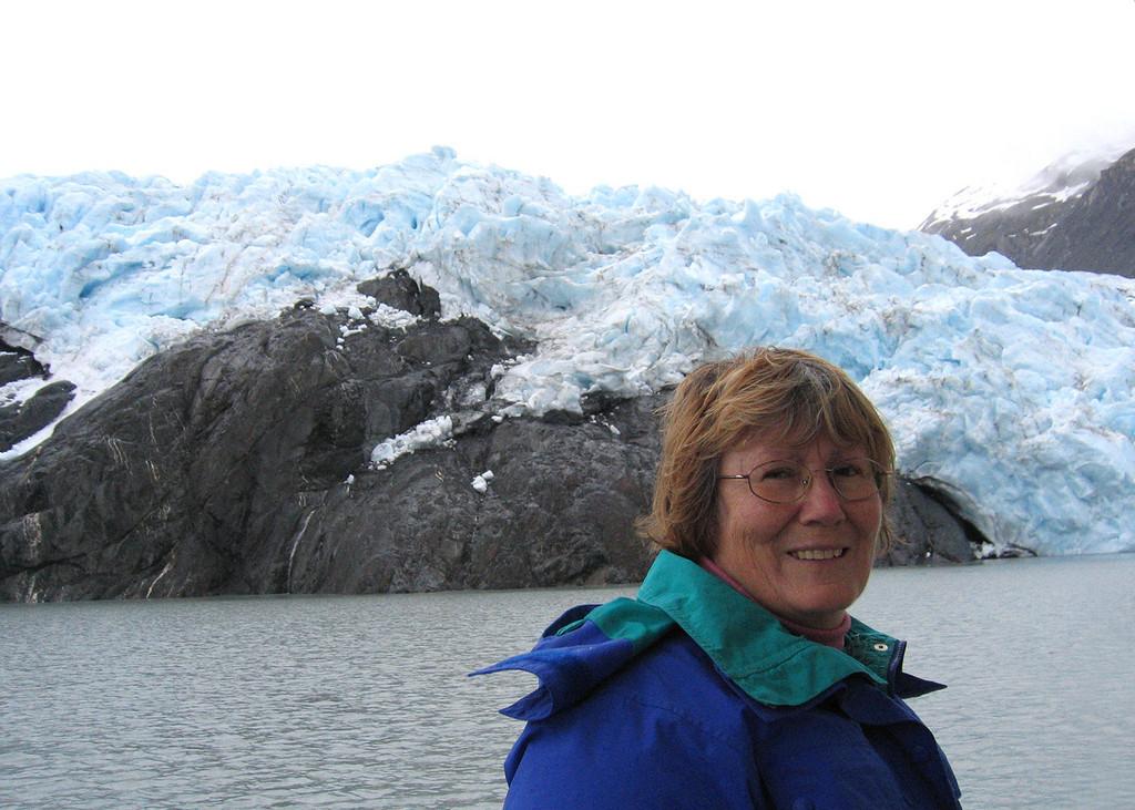 Susan at Portage Glacier
