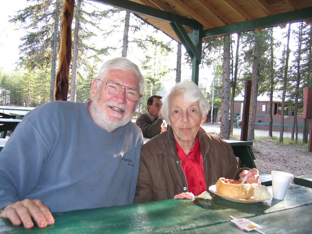 Mike with long time Tok resident, Willy Lou Warbelow