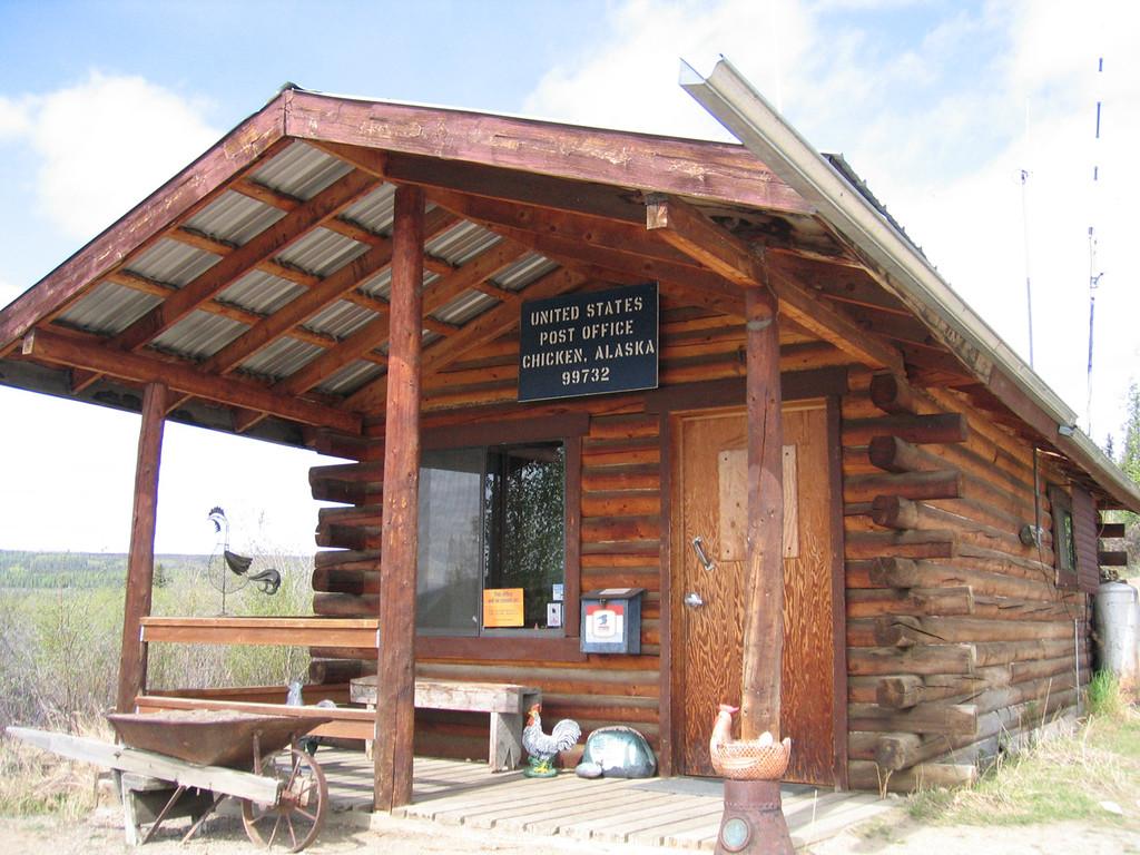 Post office at Chicken, AK