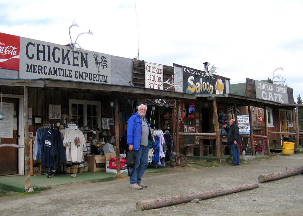 "Mike in ""Beautiful Downtown"" Chicken, AK"