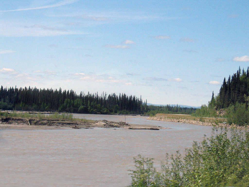 Tanana River about 40 miles south of Fairbanks, AK
