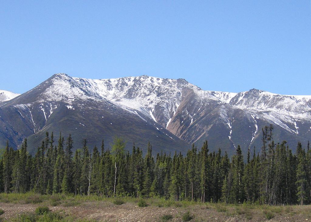 The Alaska Range about 140 miles south of Fairbanks, AK