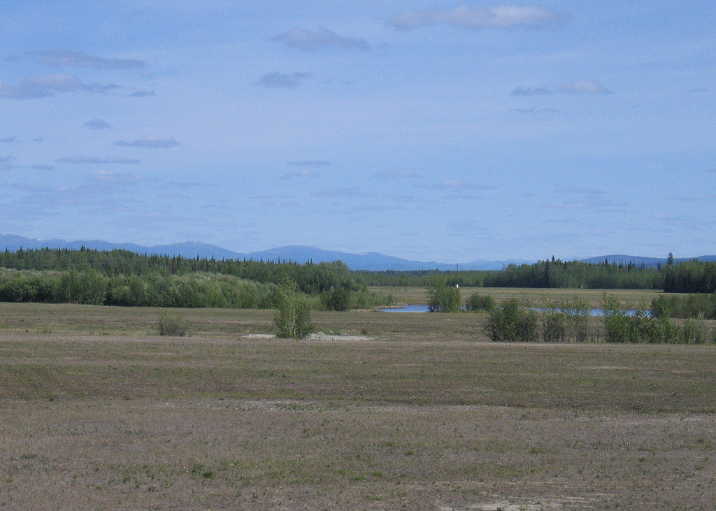 The Chena Flood Channel about 15 miles south of Fairbanks, AK