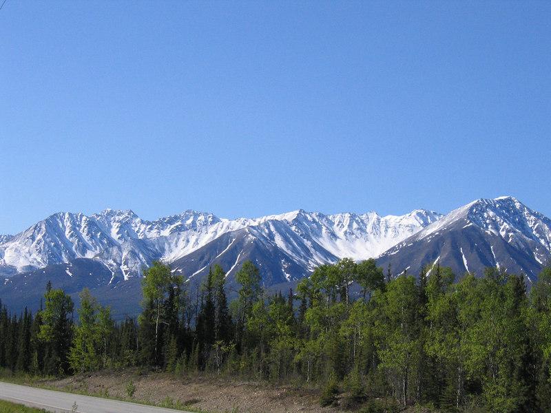 The Alaska Range about 30 miles north of Tok, AK