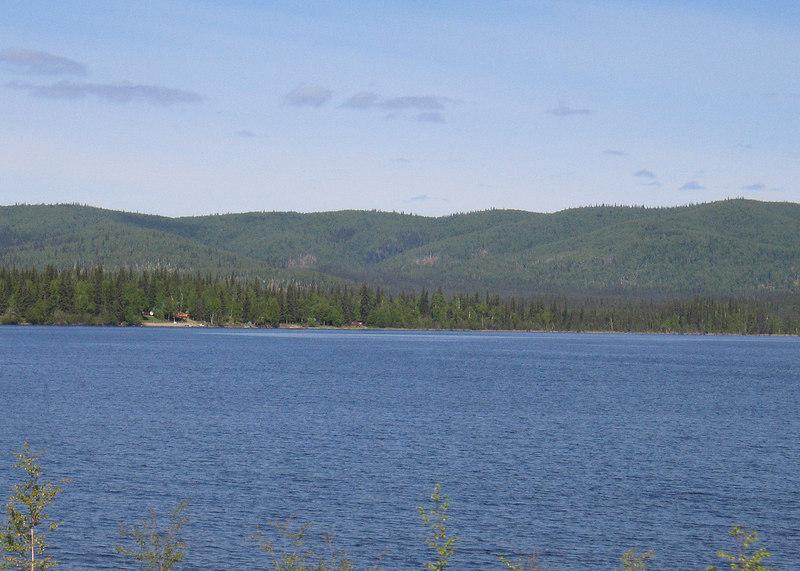 Birch Lake about 55 miles south of Fairbanks, AK