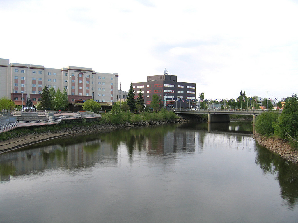 Downtown Fairbanks with the Chena River