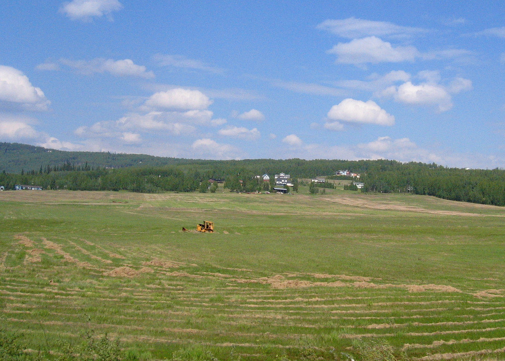 Farmland 10 miles outside Fairbanks