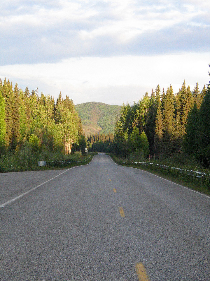 The road  43 miles from Fairbanks, AK