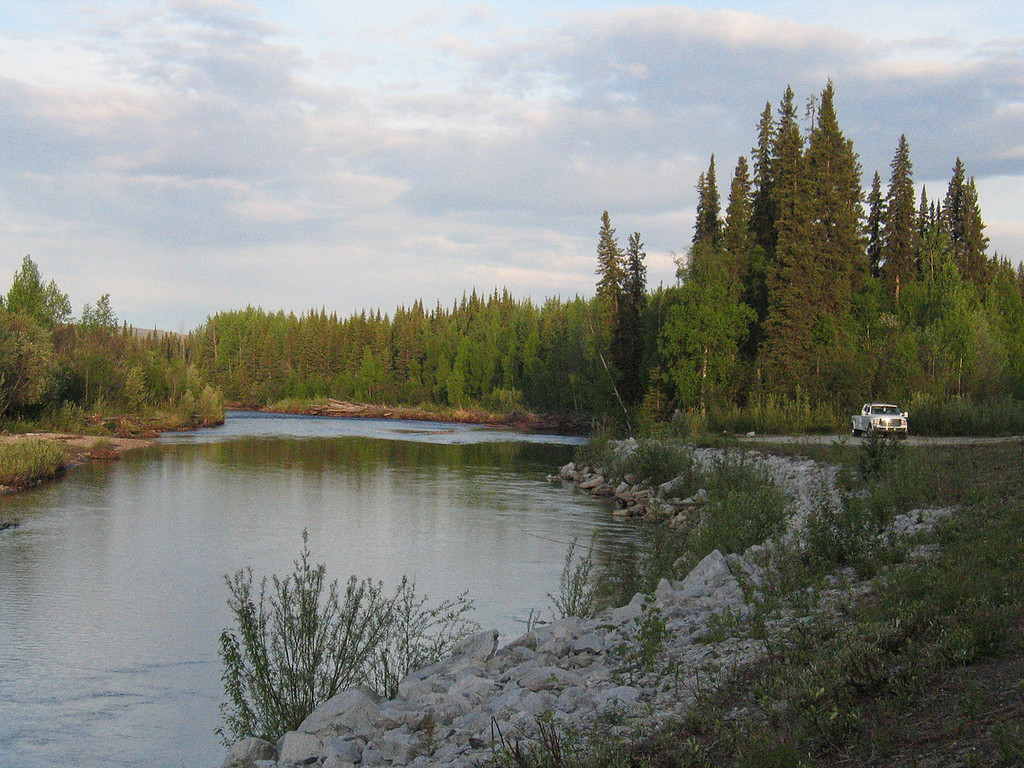 Chena River 43 miles from Fairbanks, AK