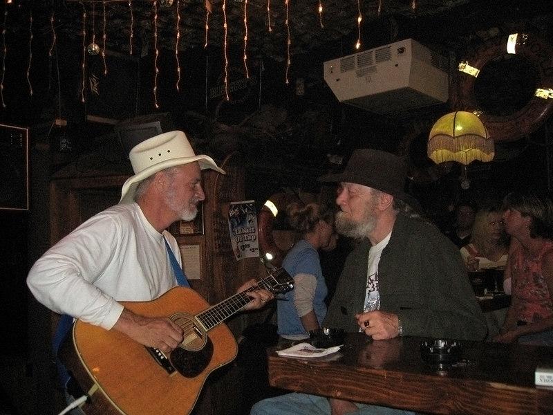 Hobo Jim and his friend, Tommy, Yukon Bar, Seward, AK