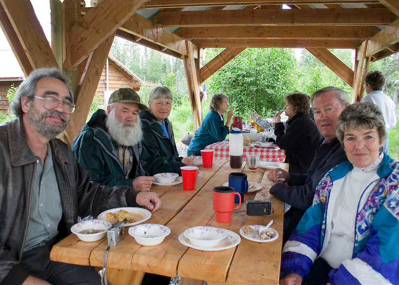 Bob and Mary hosted a Mexican dinner at Kasilof RV Park