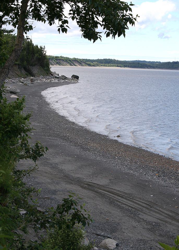 Cook Inlet from Discovery Campground in Captain Cook State Recreation Area, Kenai, AK