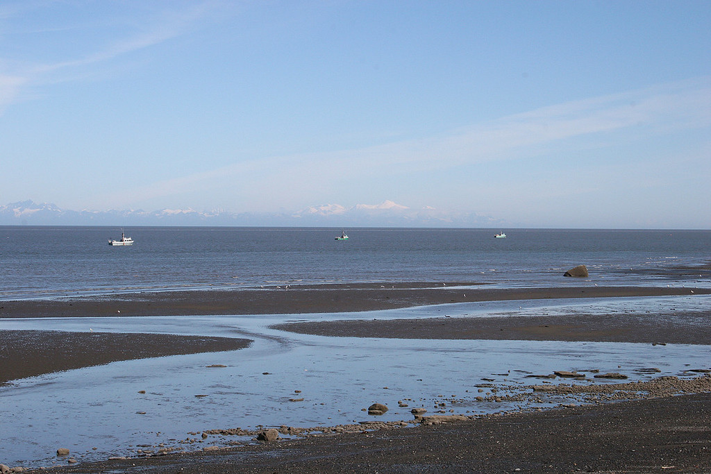 Beach and boats at Ninilchik Village, AK
