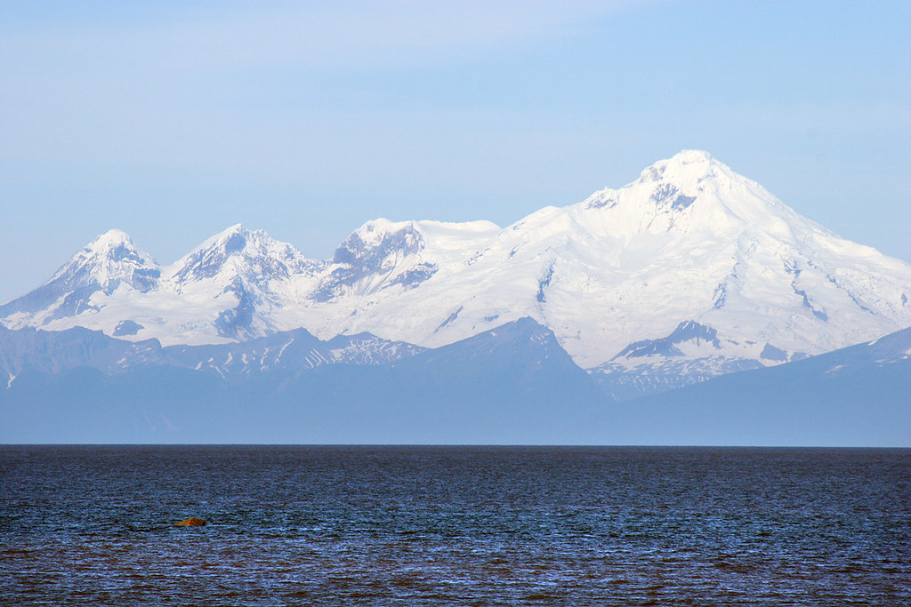 Mt Iliamna from beach at Ninilchik Village, AK