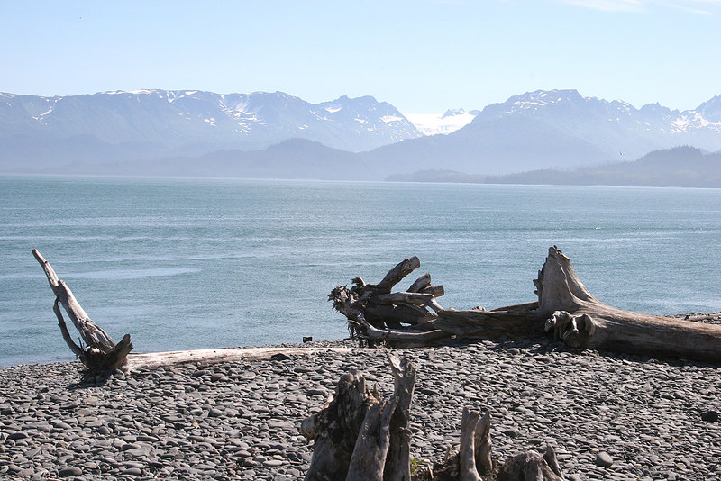 Pothock Glacier as seen from Homer Spit, Homer, AK