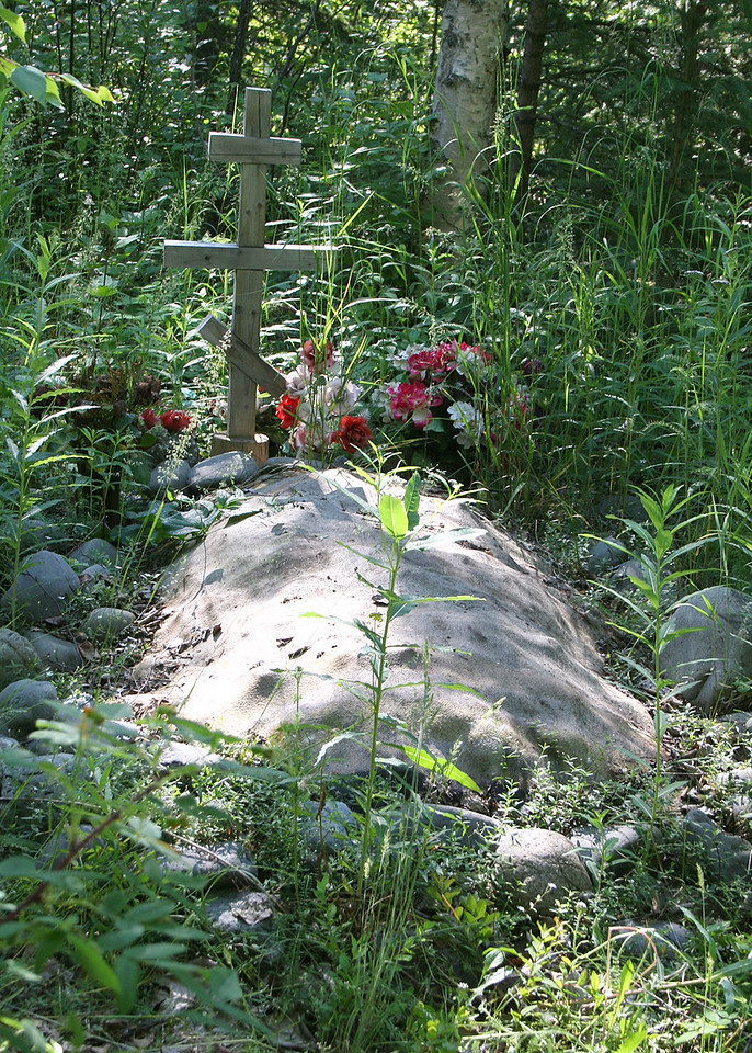 Cloth draped grave