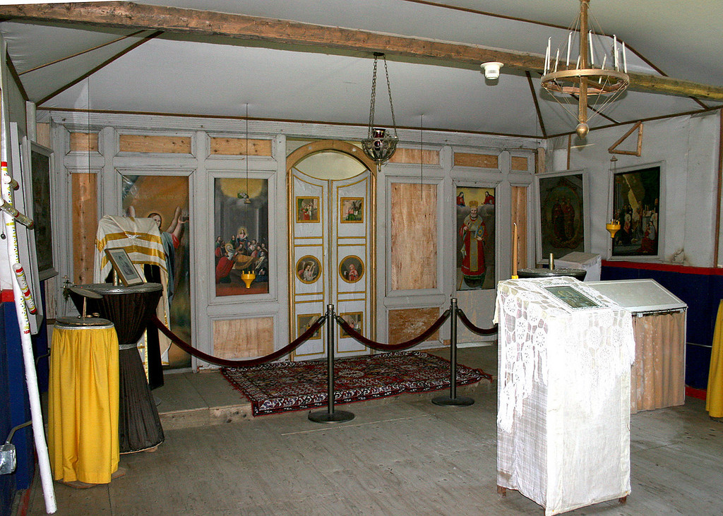 Inside the old St. Nicholas Russian Orthodox Church built in 1870