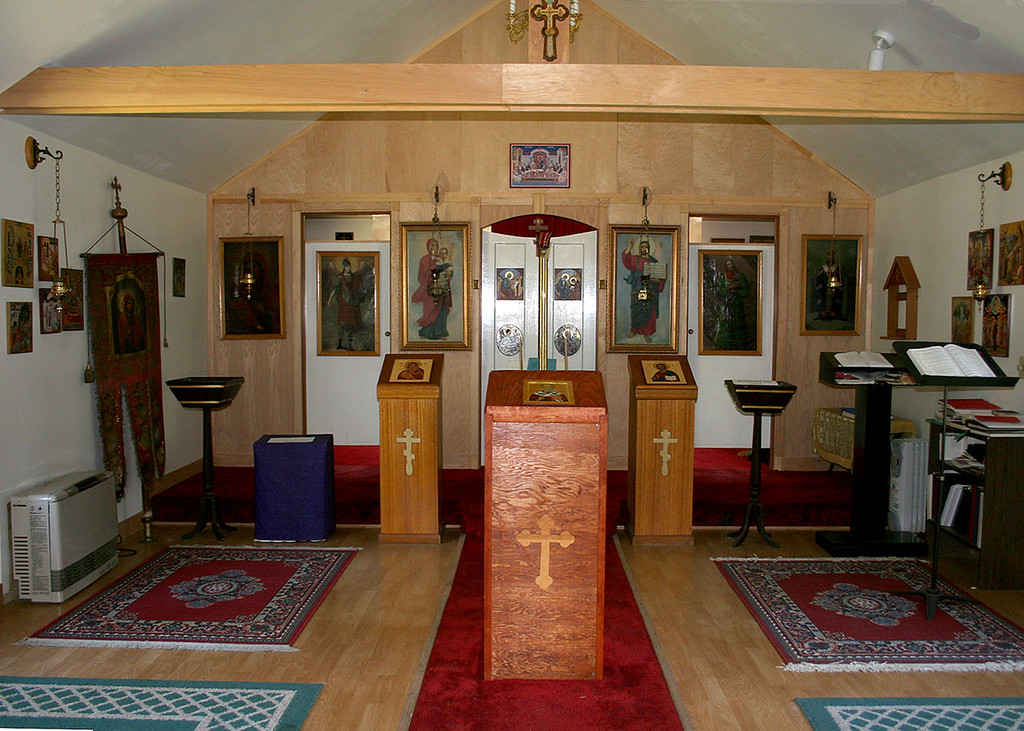 Inside the new  St. Nicholas Russian Orthodox Church built in 1962 in