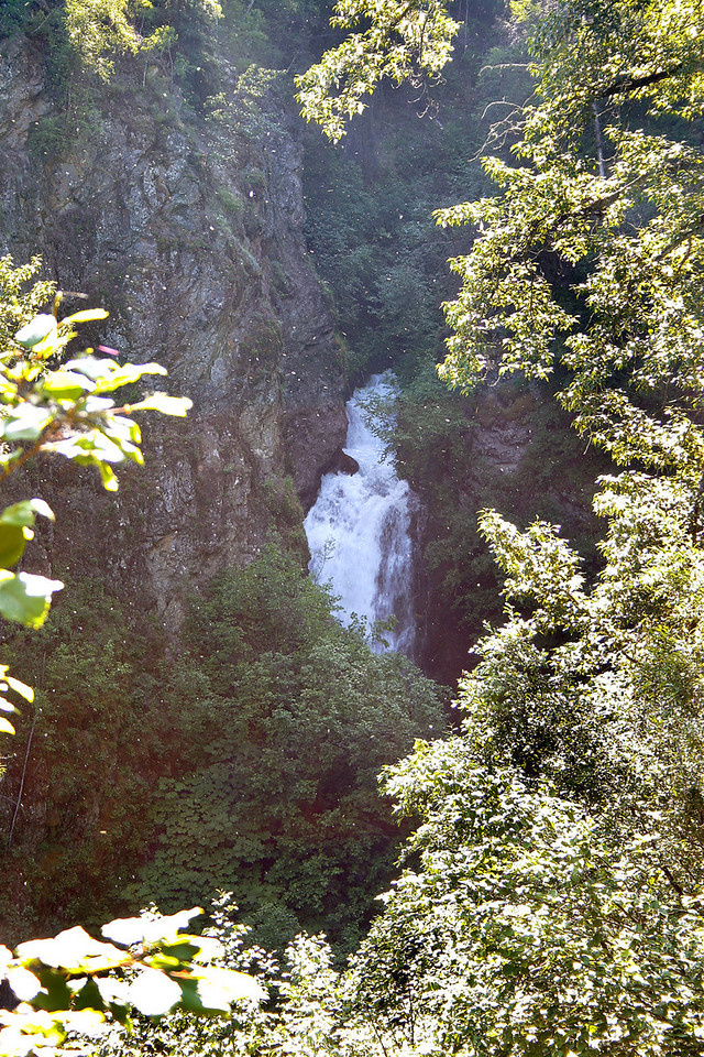 Thunderbird Falls.  You can see lots of white specks in the picture, that is all the cottonwood blowing around this day.