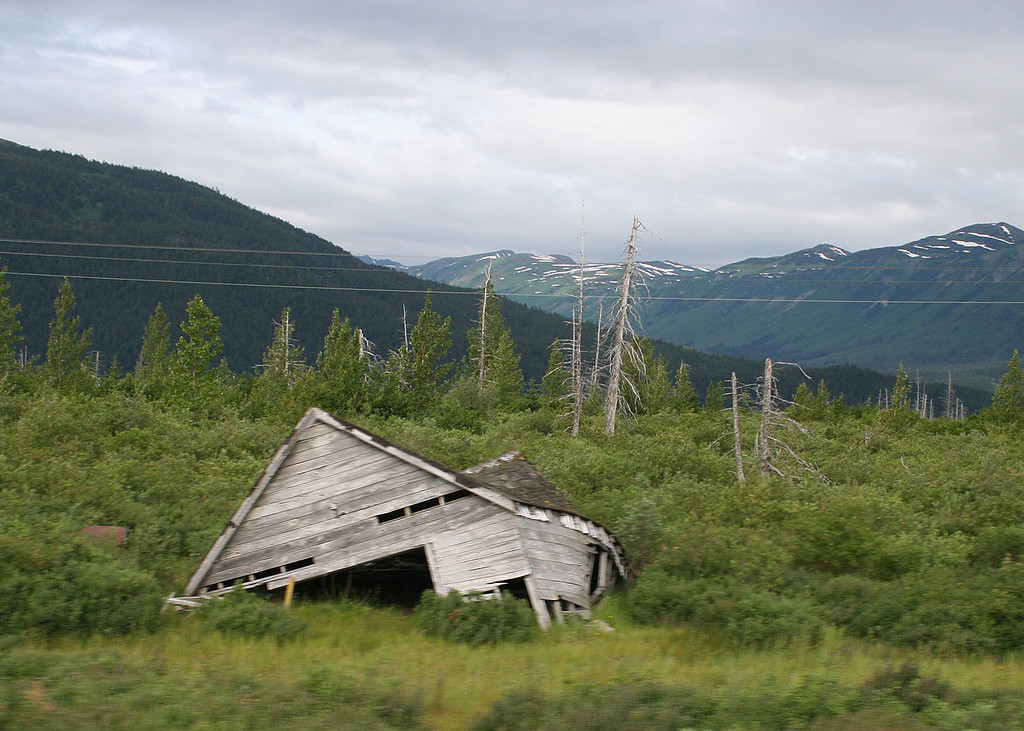 This is about all that is left of the town of Portage, AK which was destroyed in the 1964 earthquake