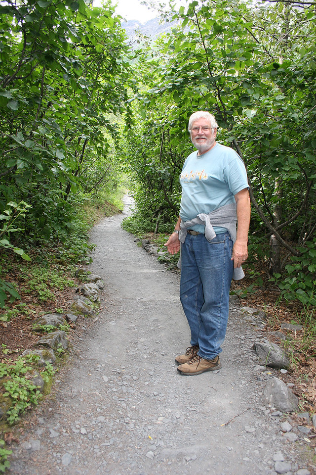 Mike along trail to Exit Glacier
