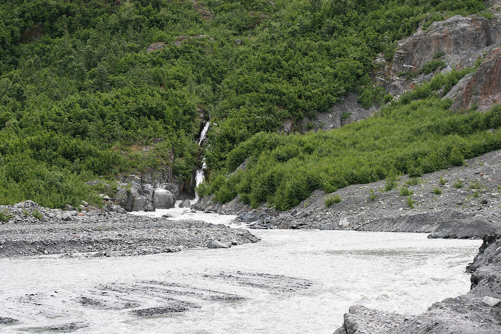 Waterfall at Exit Glacier