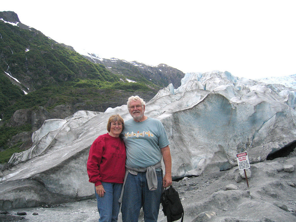 Mike and Susan at Exit Glacier