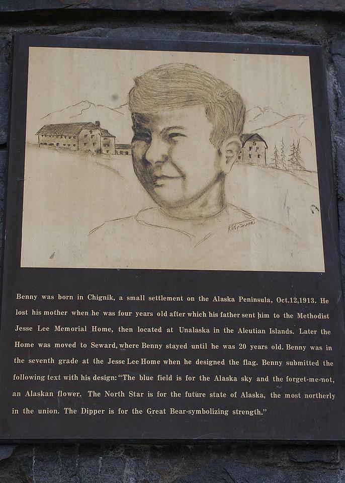 Information on Benny Benson who designed the Alaskan state flag
