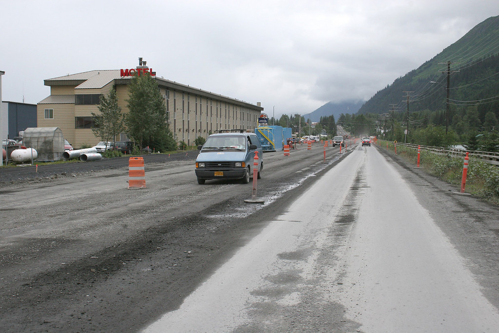 Road construction as you are coming into Seward