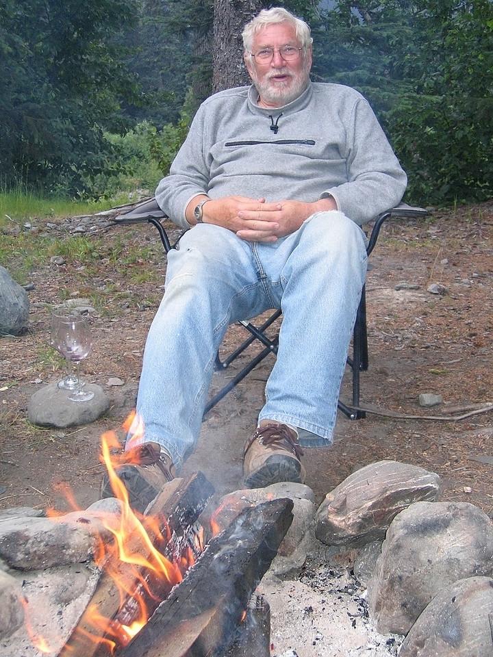 Mike enjoying fire