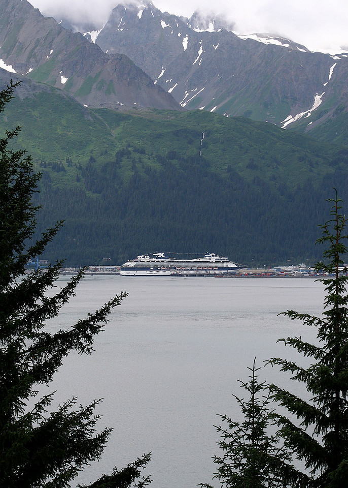 Seward as seen from across Resurrection Bay