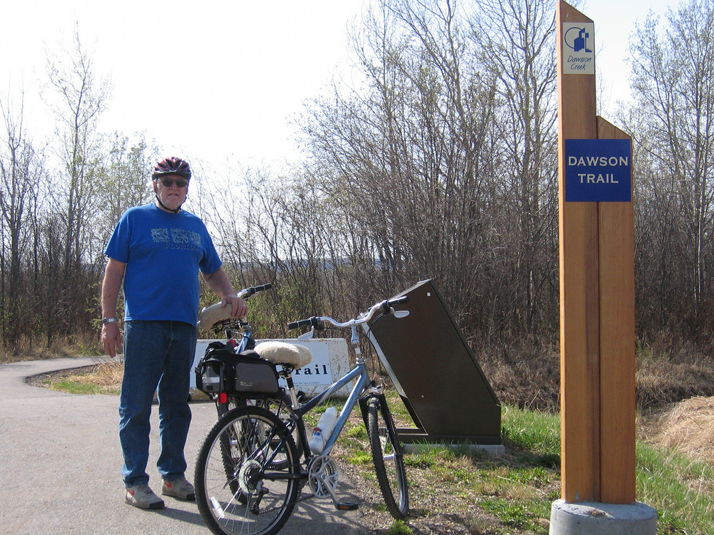 5/11/06 - There is a great walking/biking trail that went from our RV park for about 2 1/2 miles into Dawson Creek.