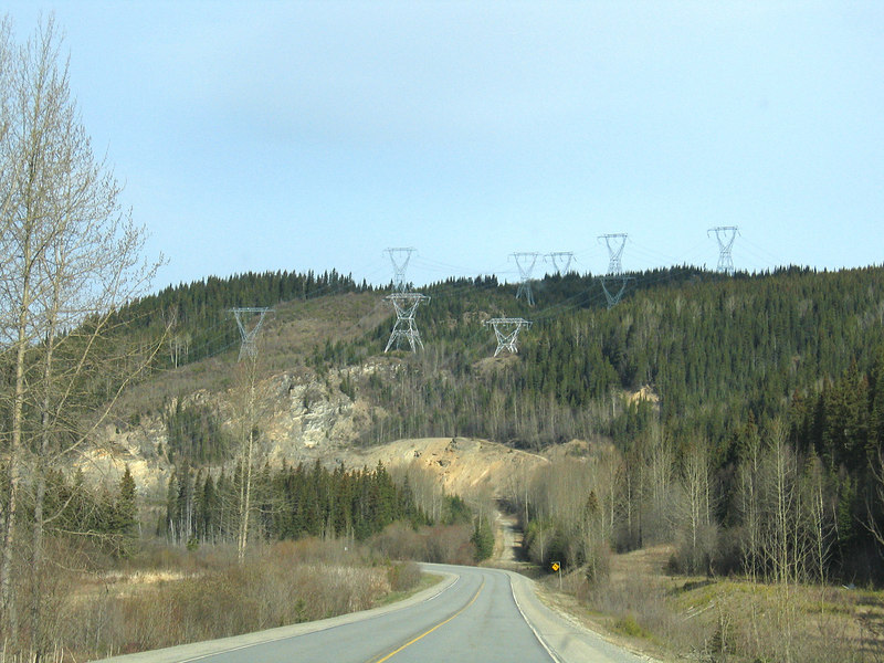 More power lines going through the mountains