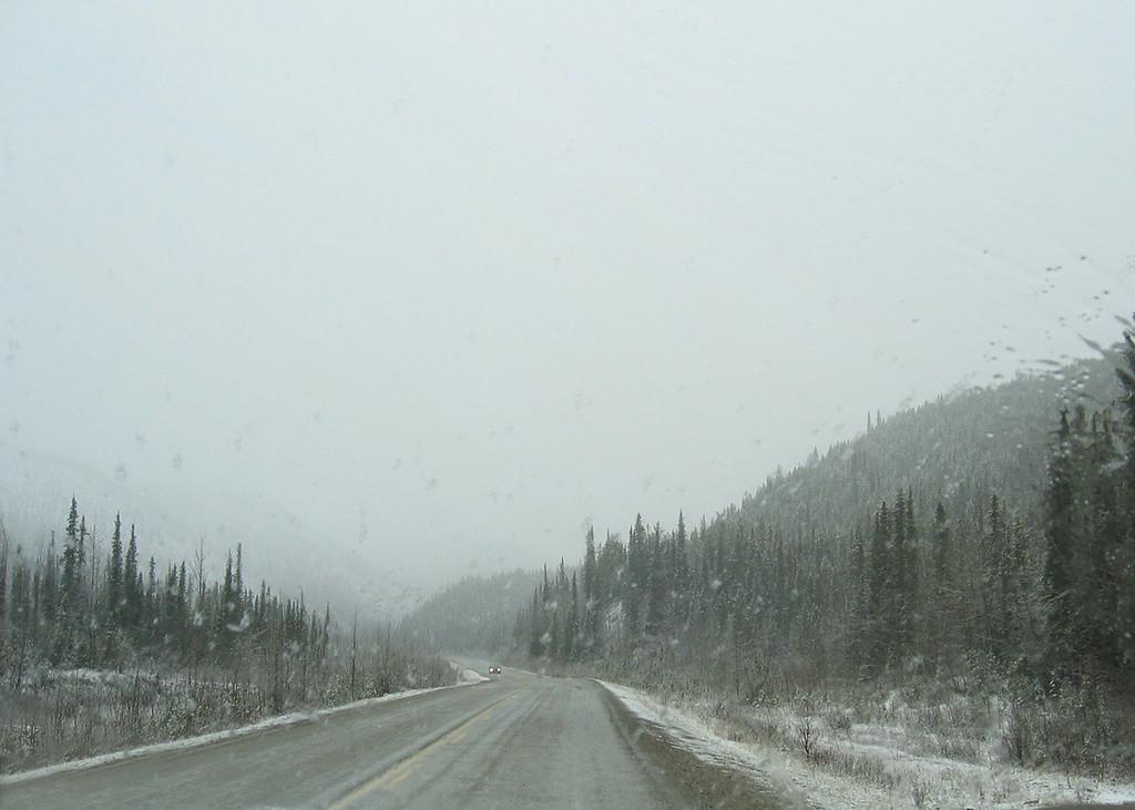 Just before Summit Lake Pass