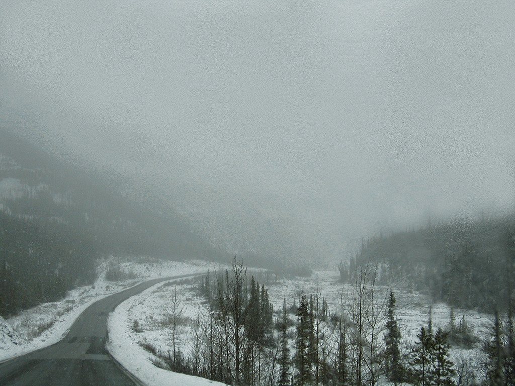 About 13 miles south of Muncho Lake, BC