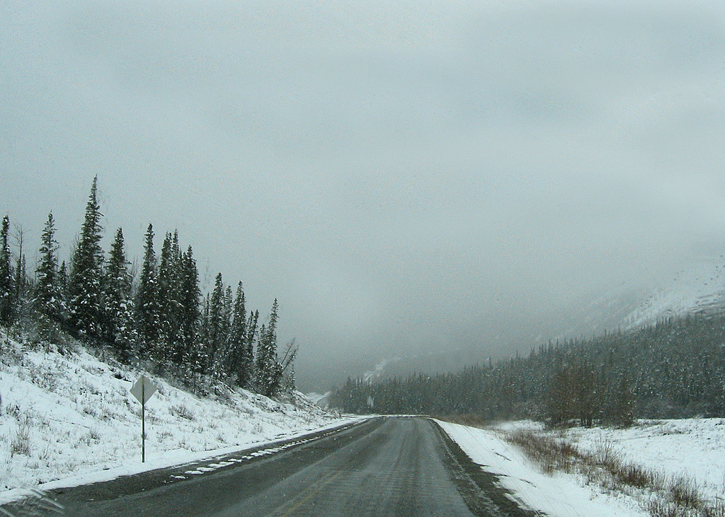 About 25 miles south of Liard Hot Springs
