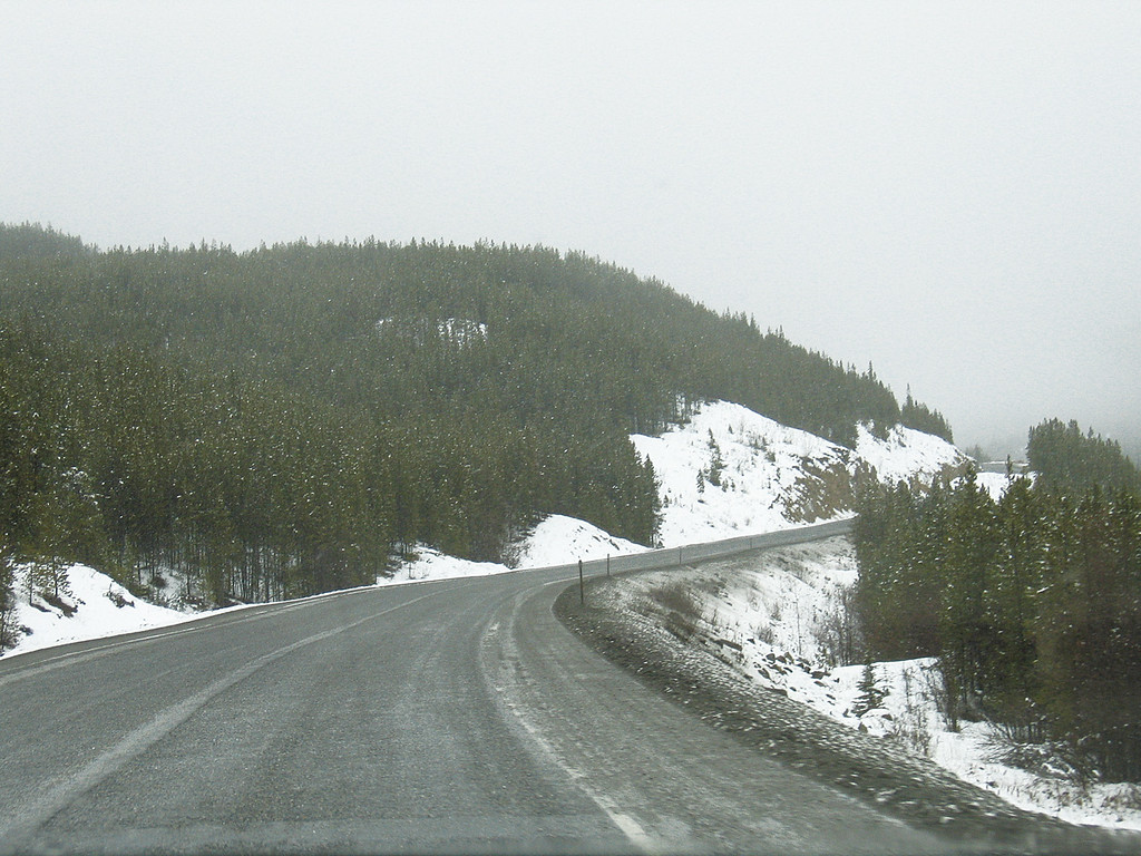 About 20 miles south of Muncho Lake, BC