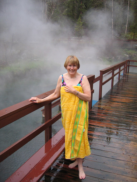 5/13/06 - Susan at hot springs
