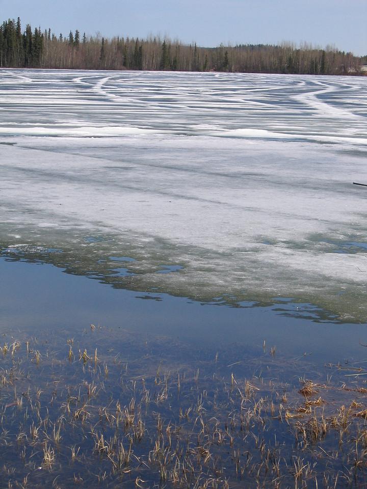 Frozen Wye Lake in Watson Lake, YT